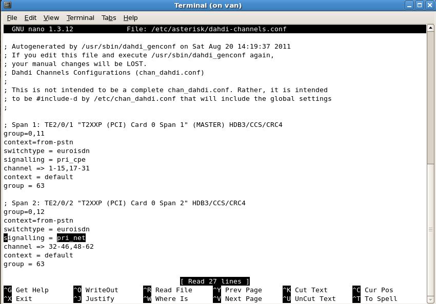 signalling pri net openvox اپن وکس