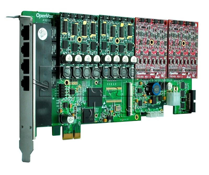 کارت آنالوگ A1610 - 16 Ports Aanalog PCI Express Card