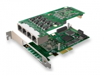 کارت دیجیتال A104 E1 - PRI - 4E1 PCI-Express card boards